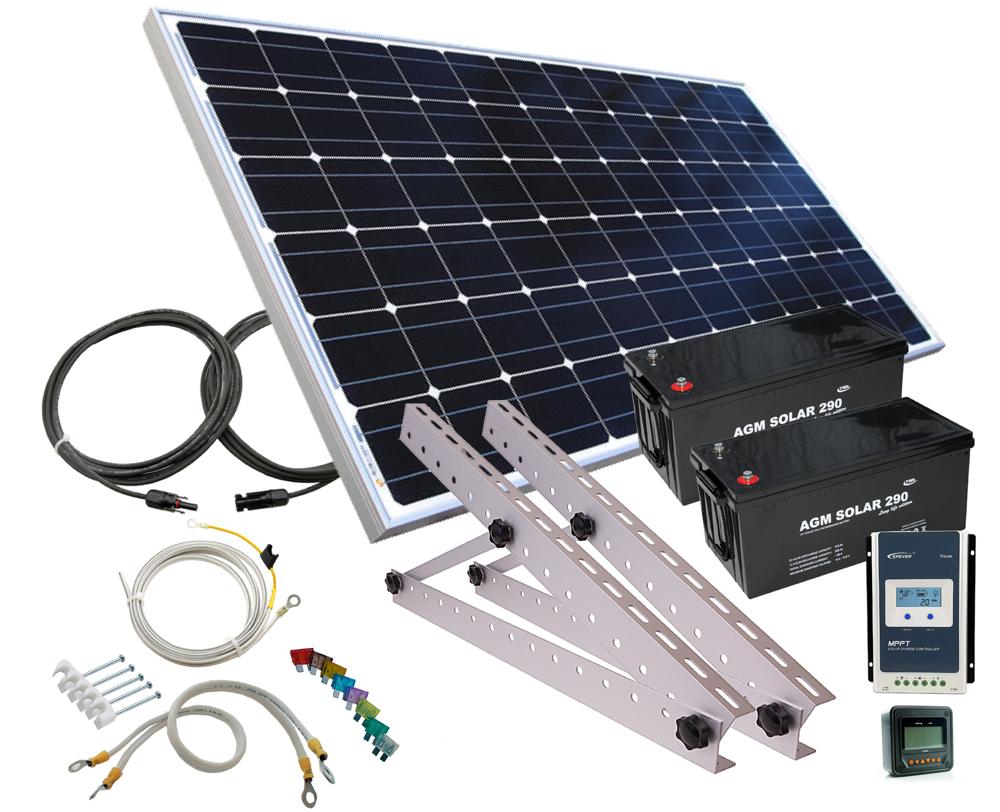12V Solcellepakker